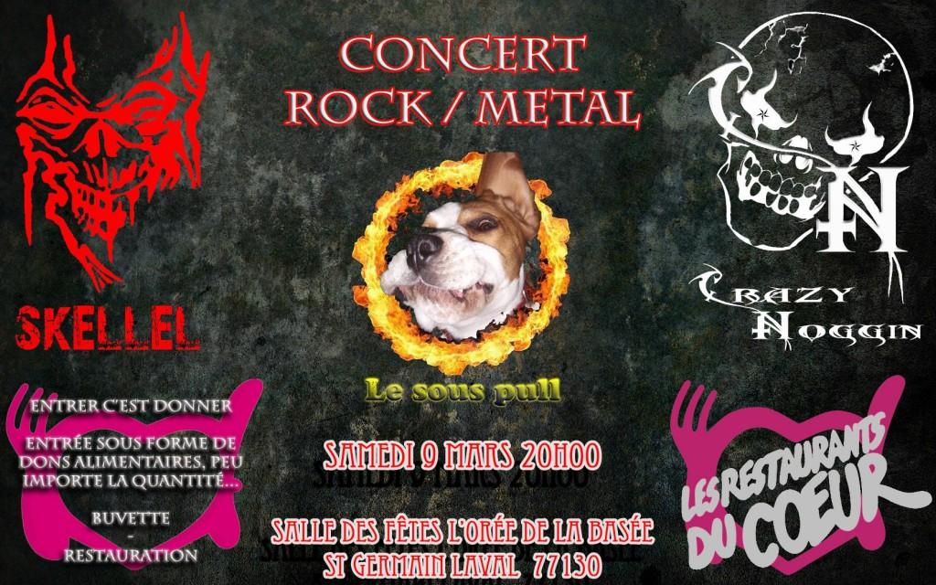 Un concert Rock / Métal au profit des Restos du Coeur
