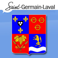 Blason de la commune de Saint-Germain-Laval